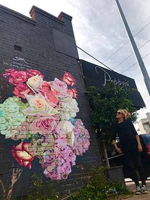 Poppy's mural et moi